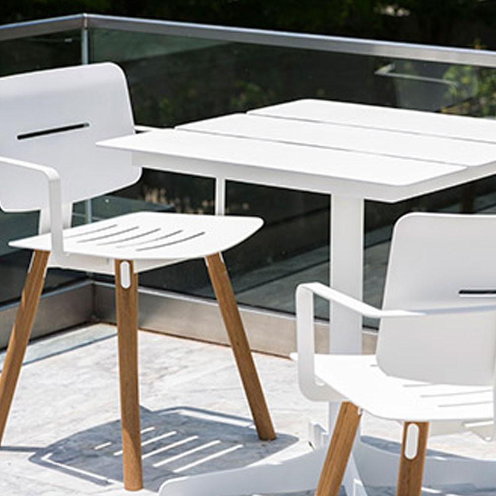 Ceru dining table 70x70cm white Oasiq