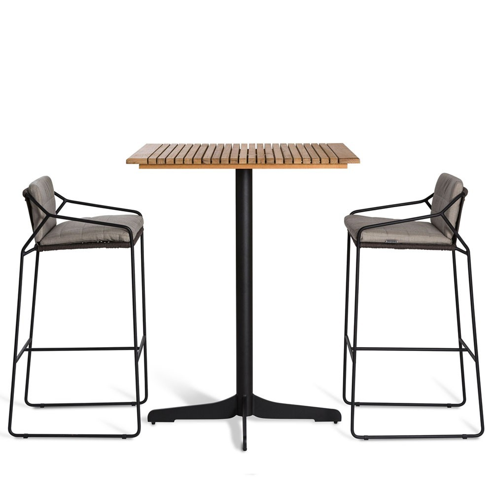 Ceru bar table 70x70cm anthracite/teak Oasiq