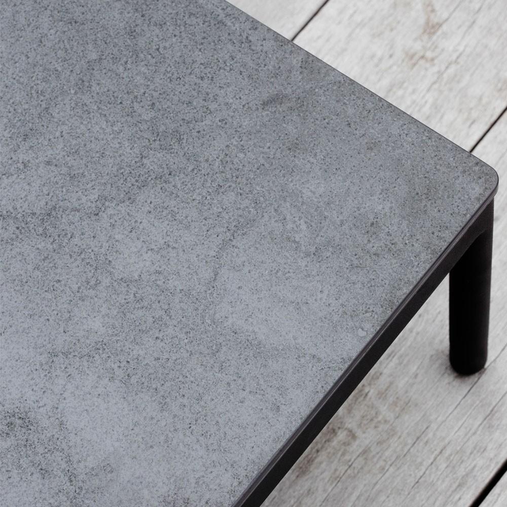 Riad ceramic coffee table 124x74cm anthracite Oasiq