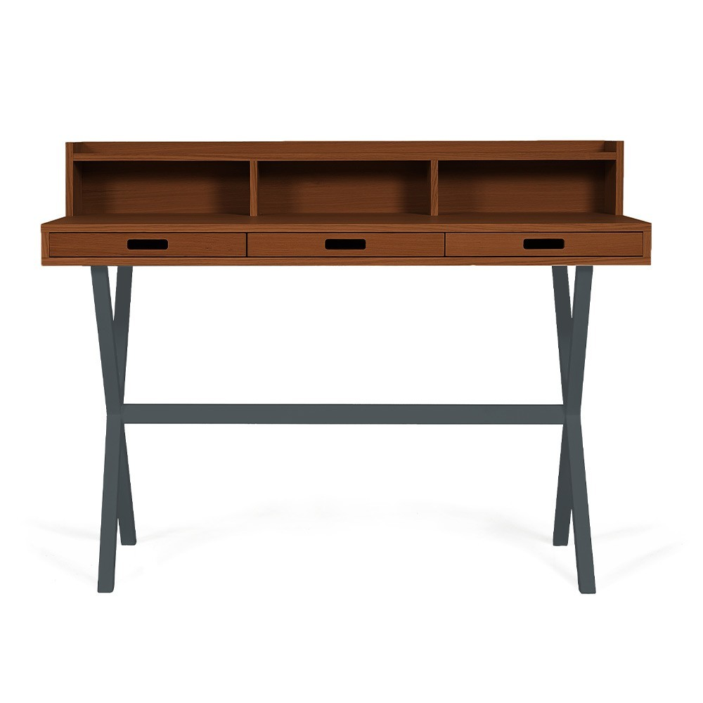 Hyppolite desk walnut slate grey Hartô