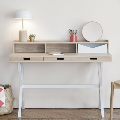 Hyppolite desk oak white Hartô