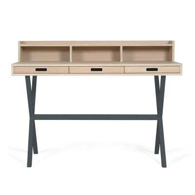 Hyppolite desk oak slate grey Hartô
