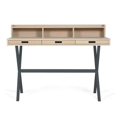 Hyppolite desk oak slate grey Hartô