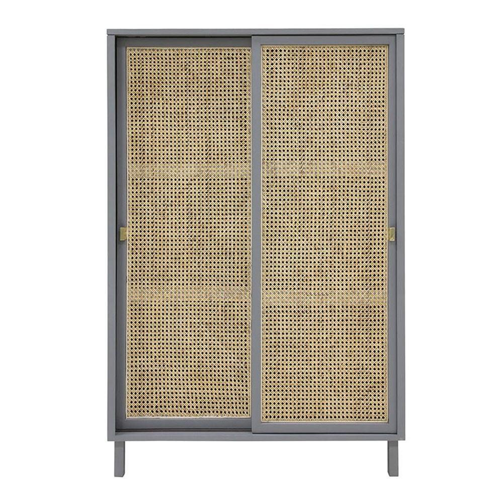 Cabinet à portes coulissantes gris HKliving