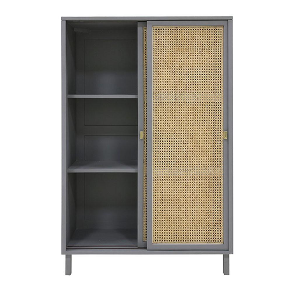 Webbing sliding door cabinet grey HKliving