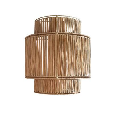 3-laagse raffia wandlamp