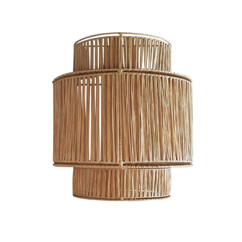 3 floors raffia wall lamp Honoré