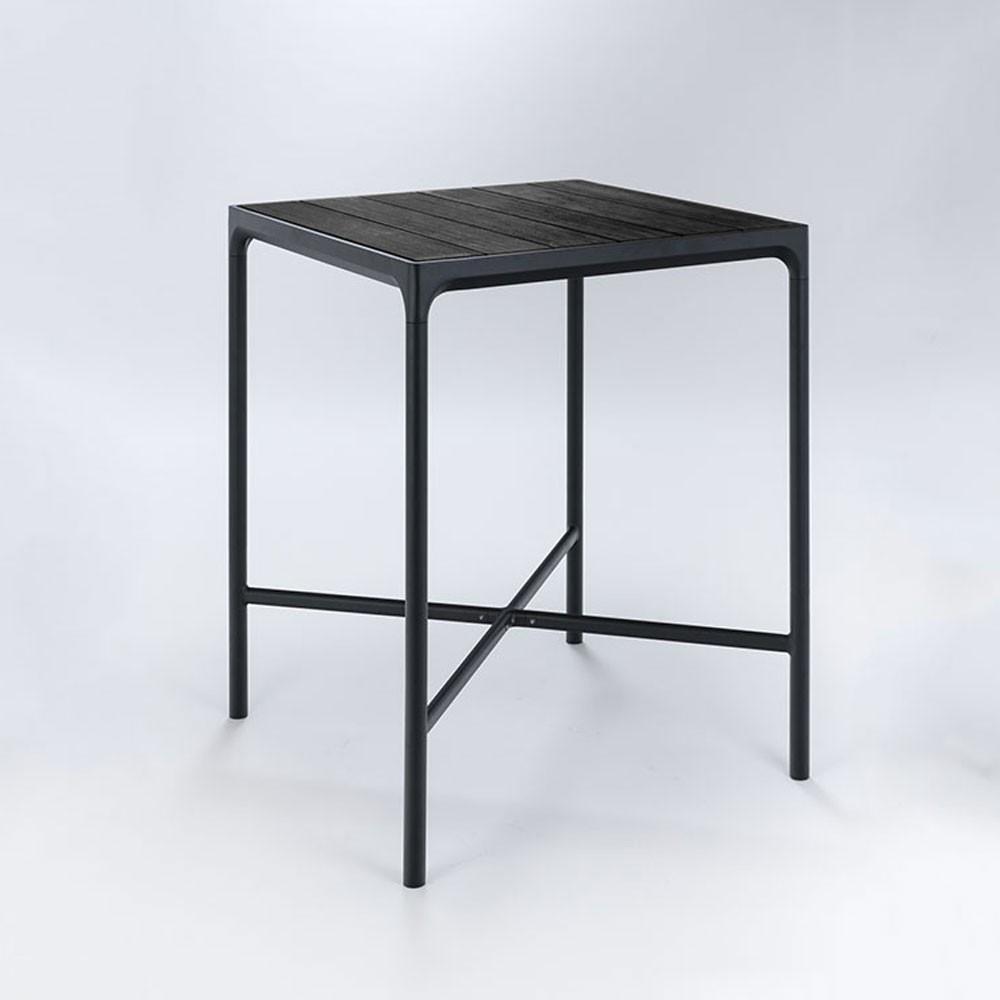 Vier hoge tafel 90x90cm zwart Houe