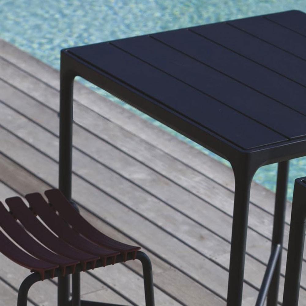Four bar table 90x90cm black Houe