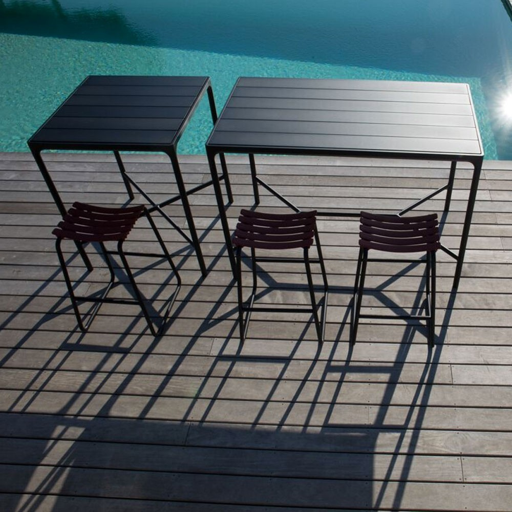 Four bar table 90x160 cm black Houe