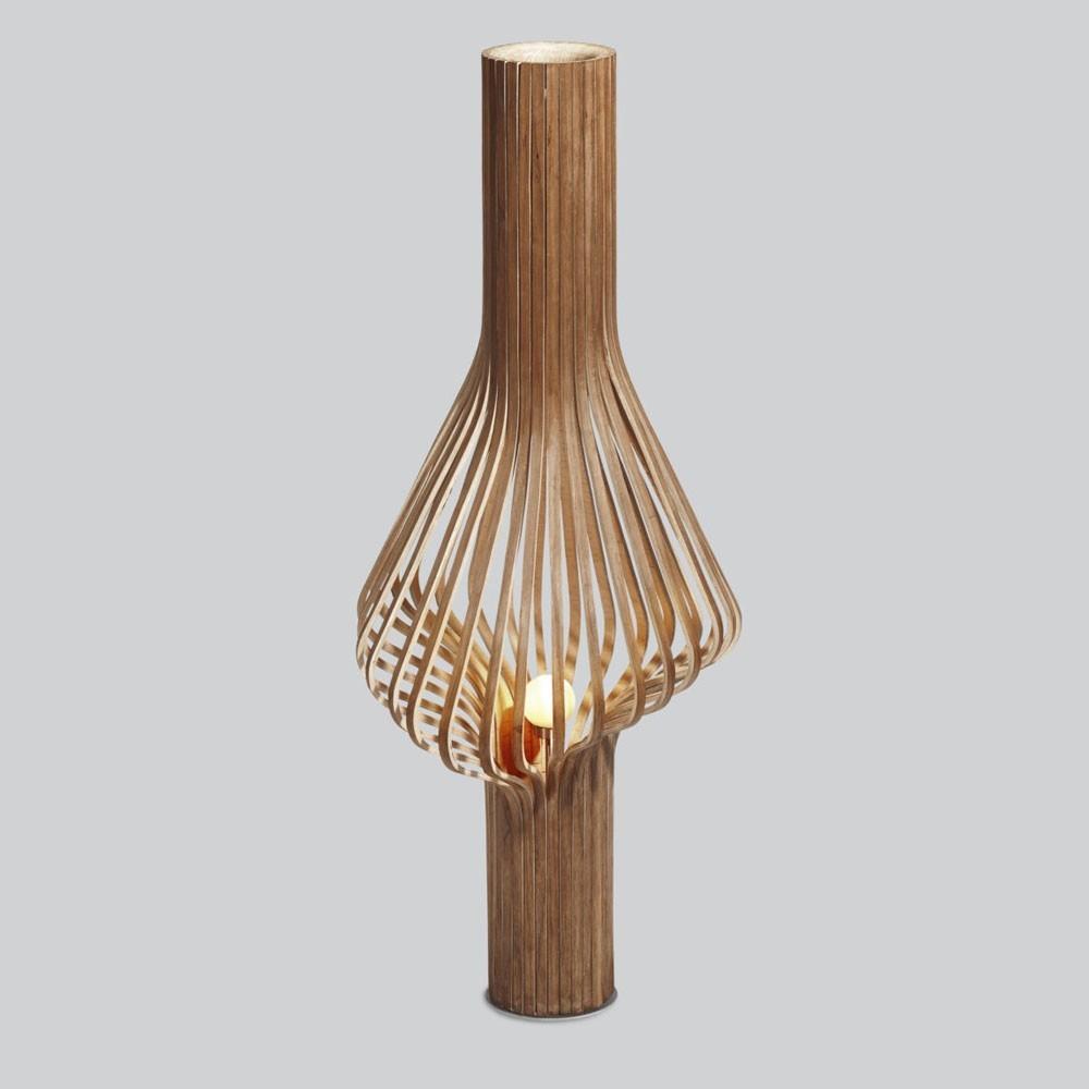 Lampe de sol Diva chêne fumé Northern
