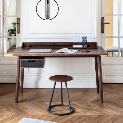 Honoré desk walnut slate grey Hartô