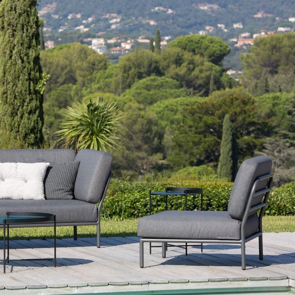 Level lounge chair coal grey Houe