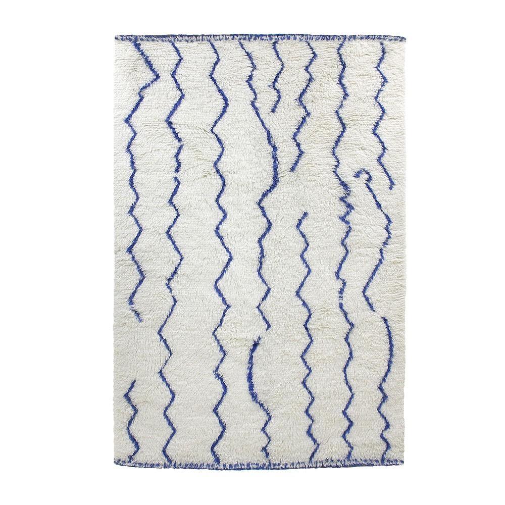 Berber rug cobalt blue & white HKliving