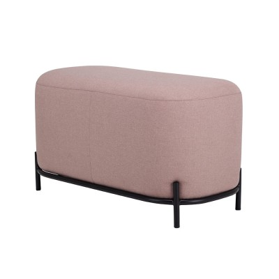 Old pink pouf 80cm