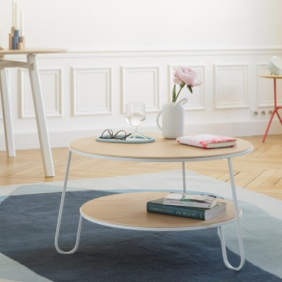 Eugénie coffee table 70 cm white oak Hartô
