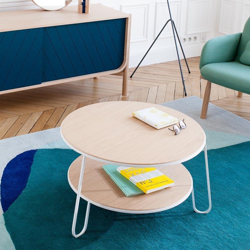 Eugénie coffee table 70 cm white oak Hartô