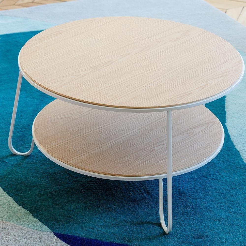 Eugenie salontafel 70 cm wit eiken Hartô