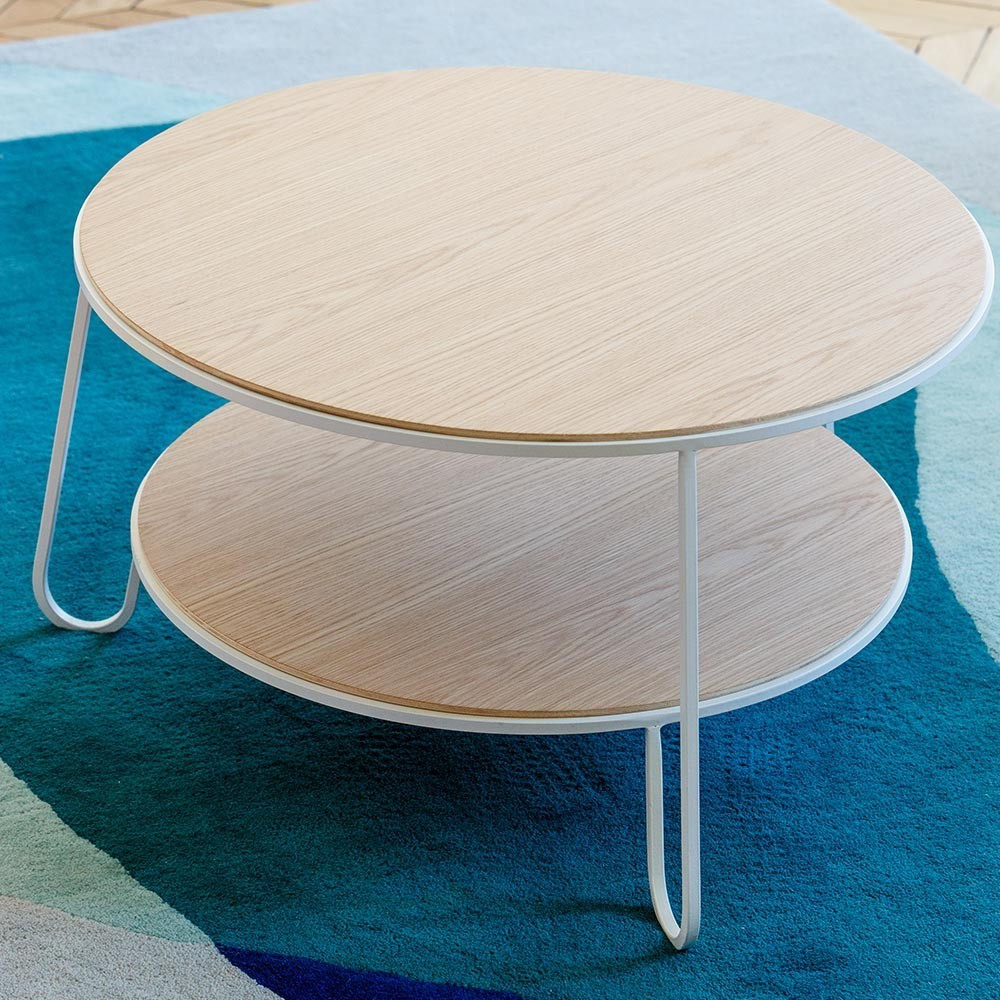 Table basse Eugénie 70 cm chêne blanc Hartô