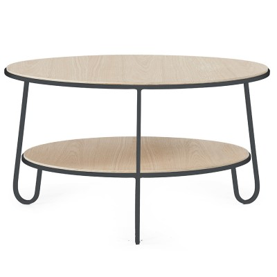 Table basse Eugénie 70 cm chêne gris ardoise Hartô