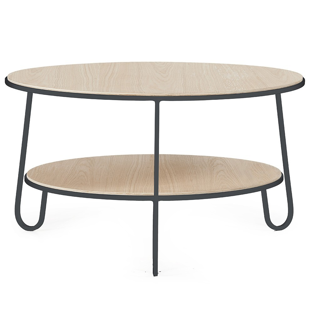 Eugénie coffee table 70 cm slate grey oak Hartô