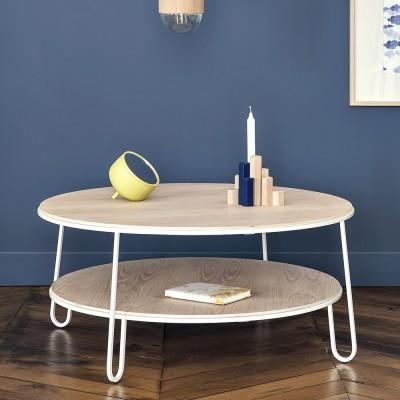 Eugenie salontafel 90 cm wit eiken Hartô