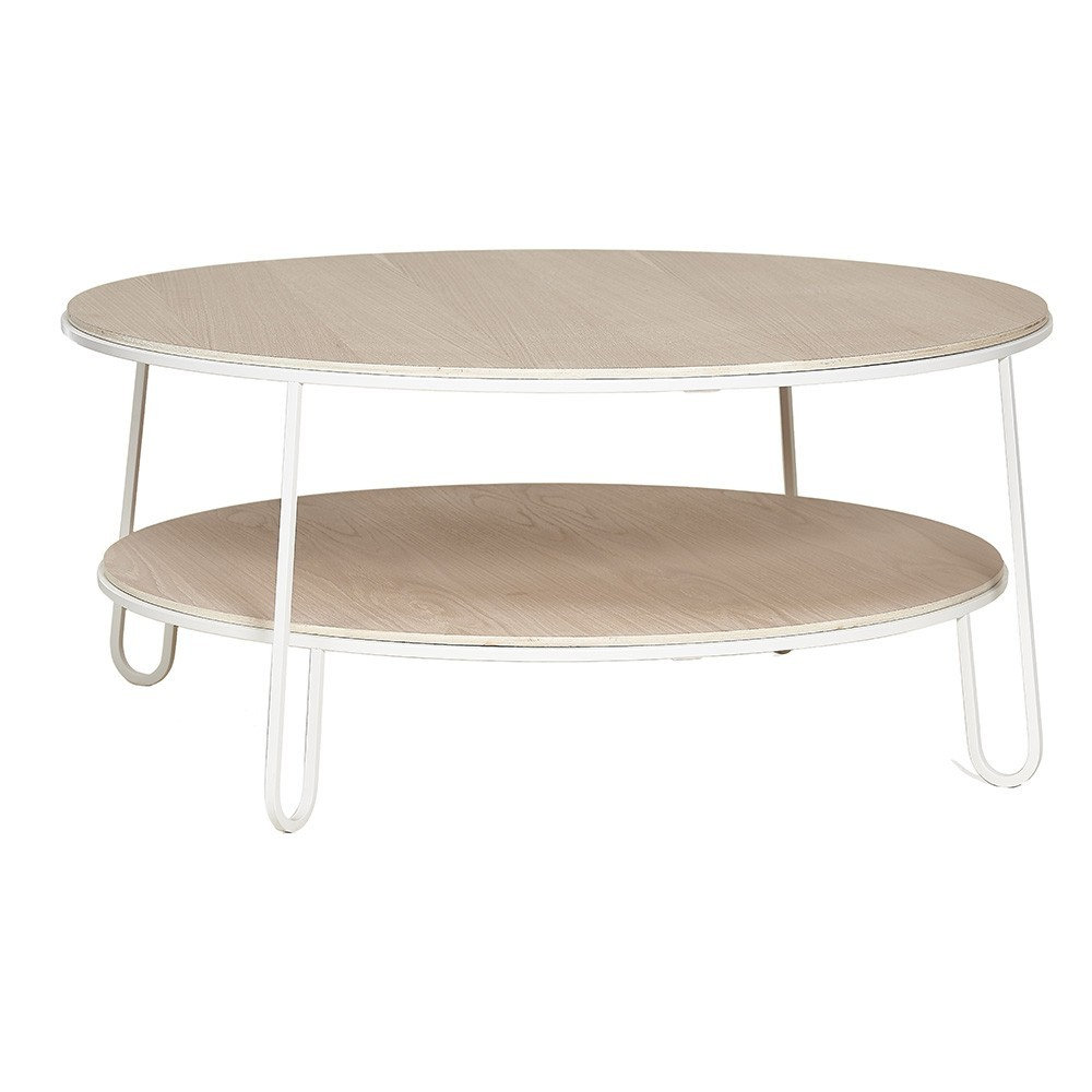 Eugénie coffee table 90 cm white oak Hartô