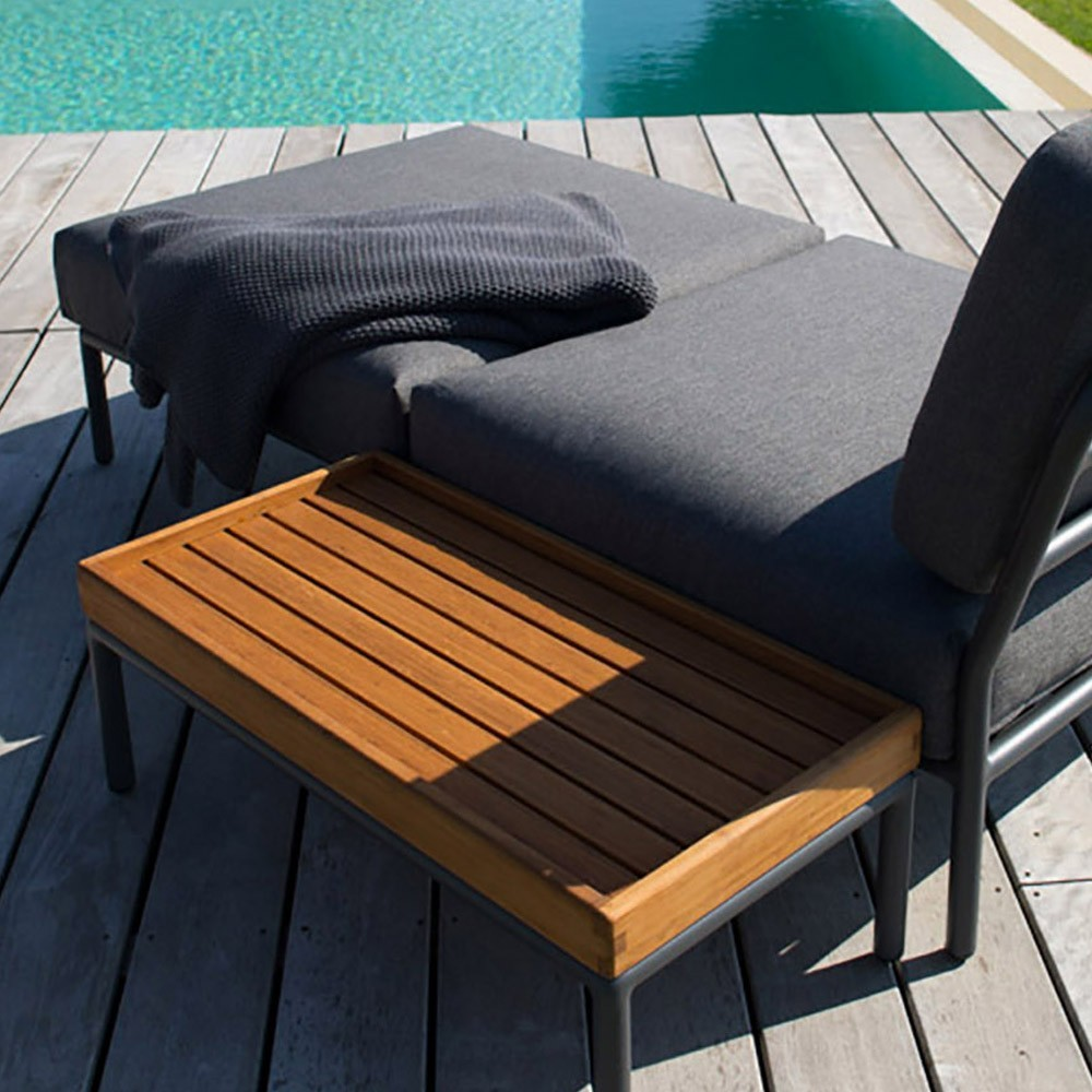 Level lounge ottoman coal grey Houe