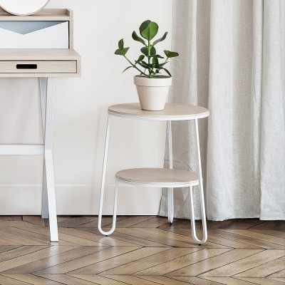 Side table Anatole white oak Hartô