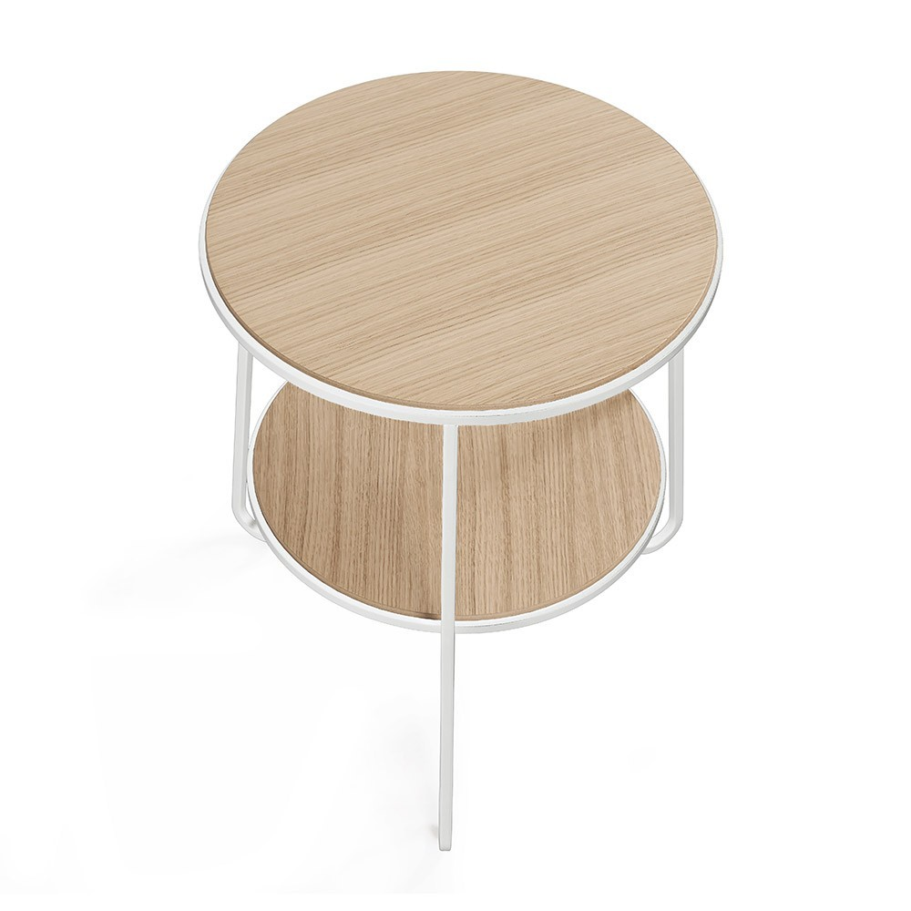 Side table Anatole white oak Hartô