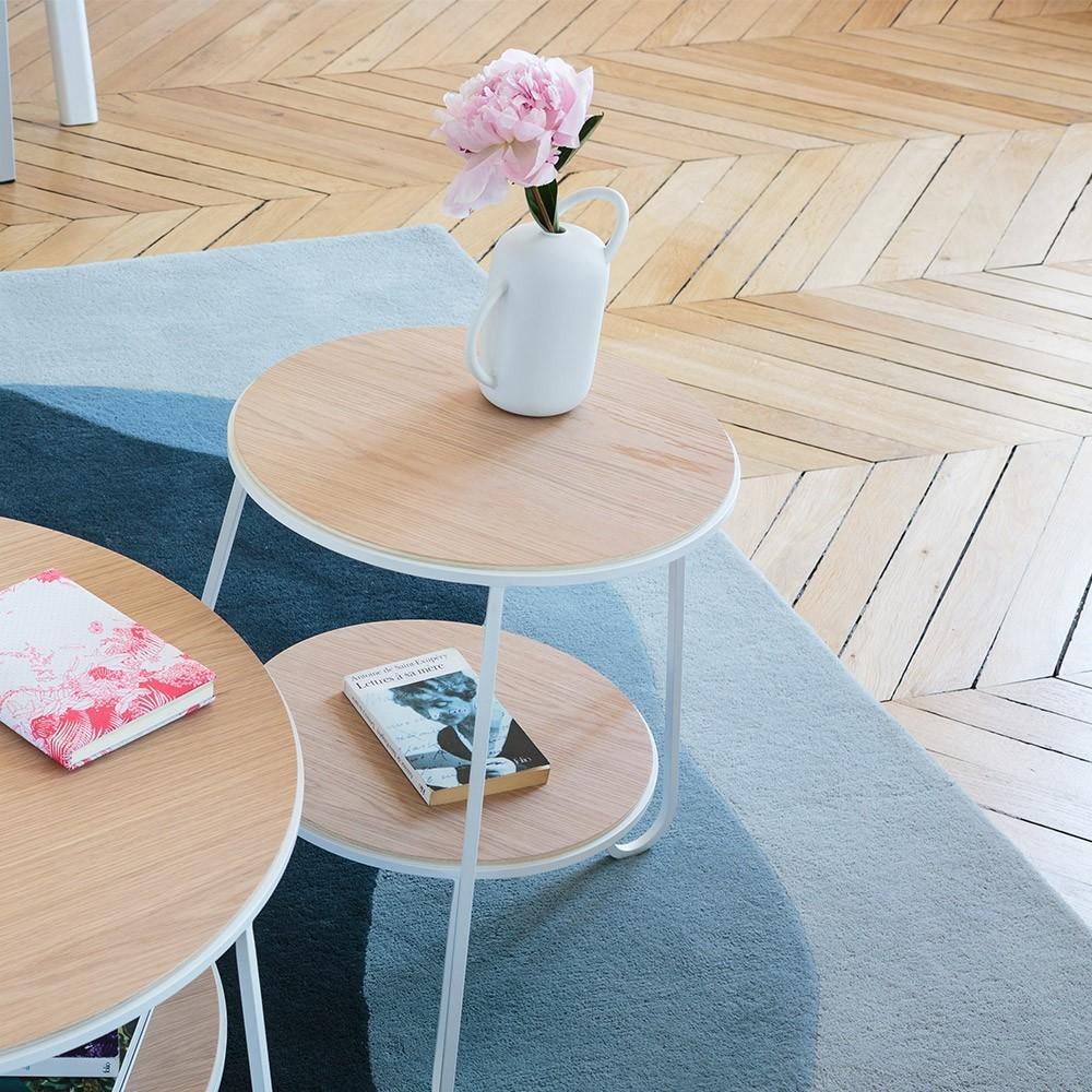 Anatole wit eiken sokkel tafel Hartô