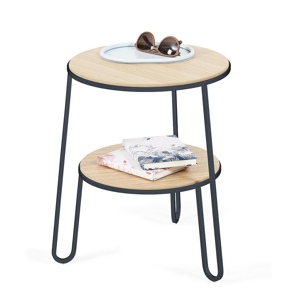 Side table Anatole slate grey oak Hartô