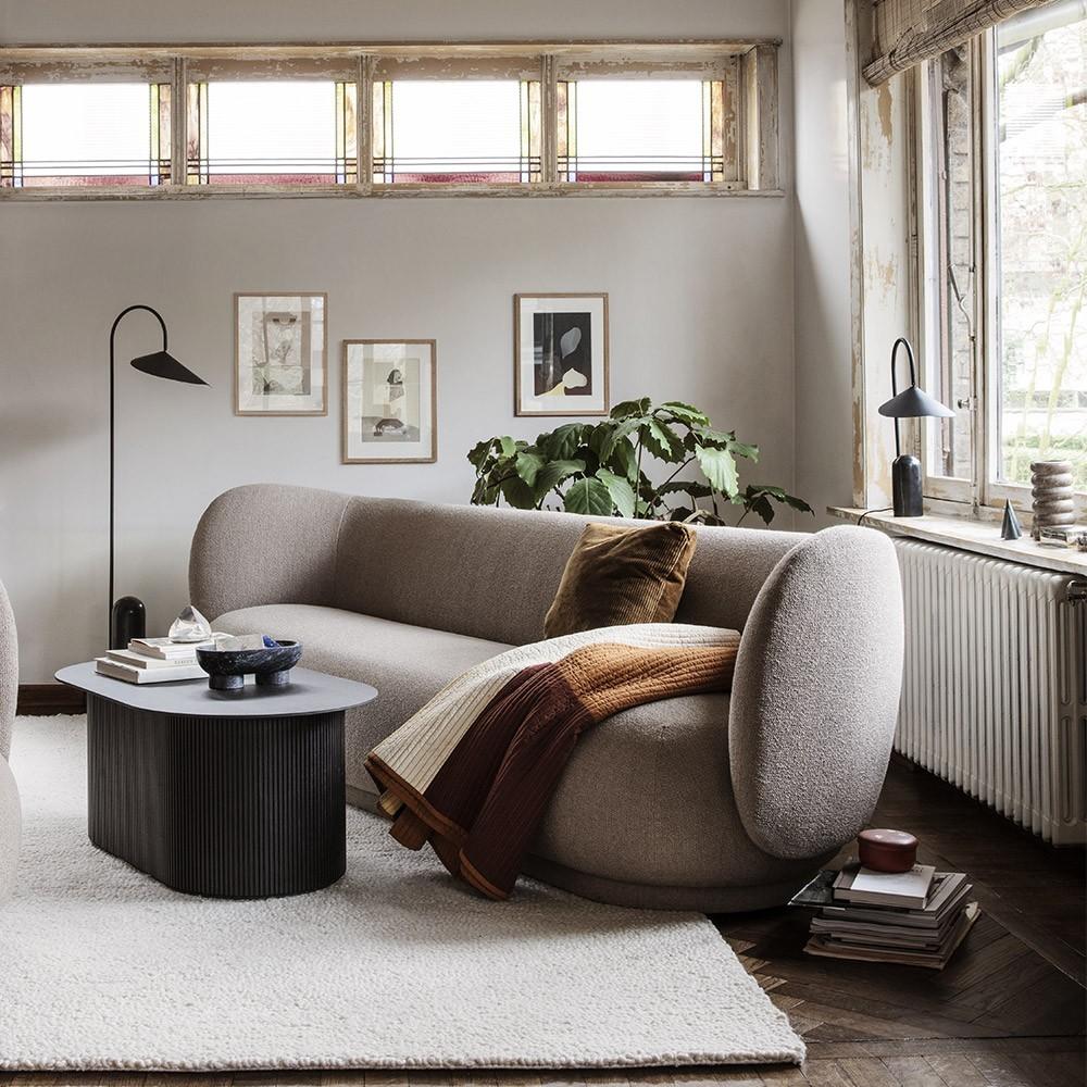 Rico 3-zits curly witte bank Ferm Living