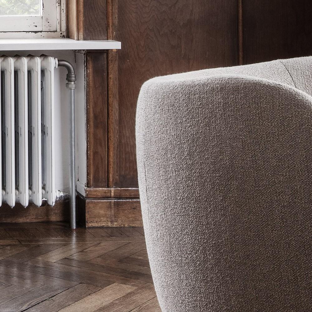 Rico 3-seater sofa bouclé black Ferm Living