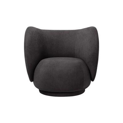 Rico fauteuil curly zwart Ferm Living