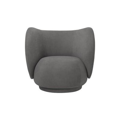 Rico fauteuil geborsteld grijs Ferm Living