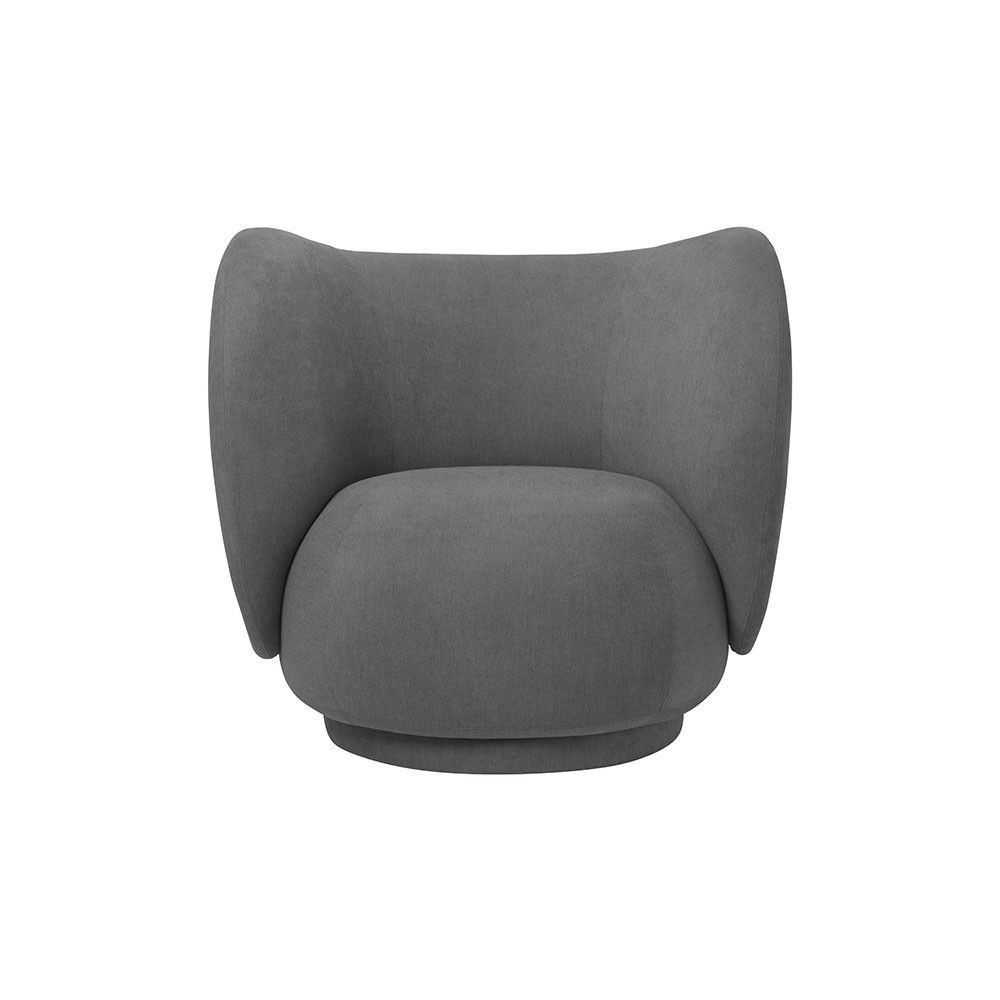 Rico armchair brushed grey Ferm Living