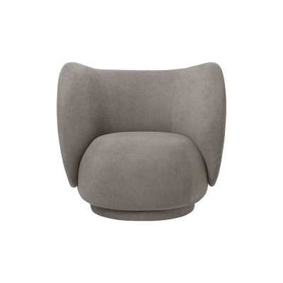 Rico fauteuil geborsteld taupe Ferm Living