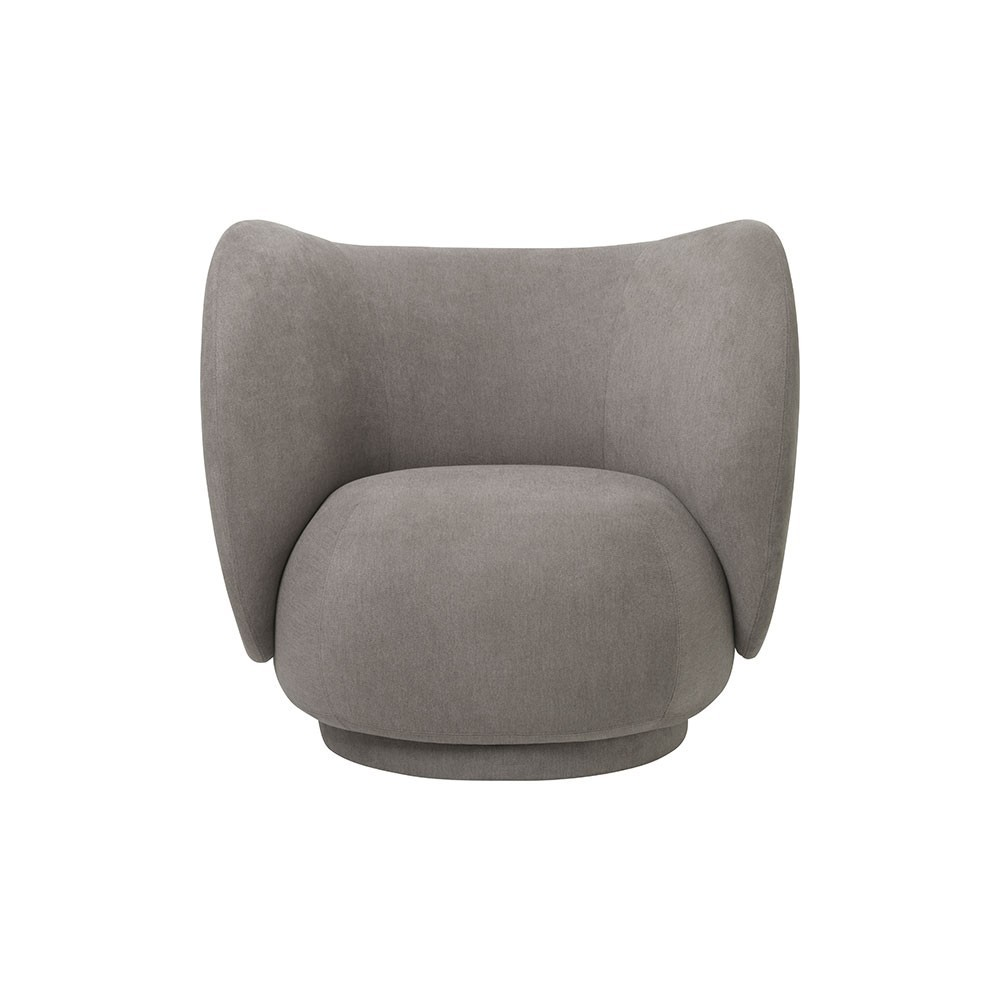 Rico armchair brushed brownish-grey Ferm Living