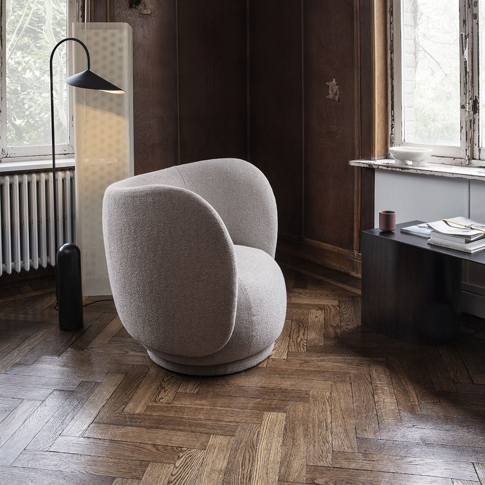 Rico armchair brushed white Ferm Living