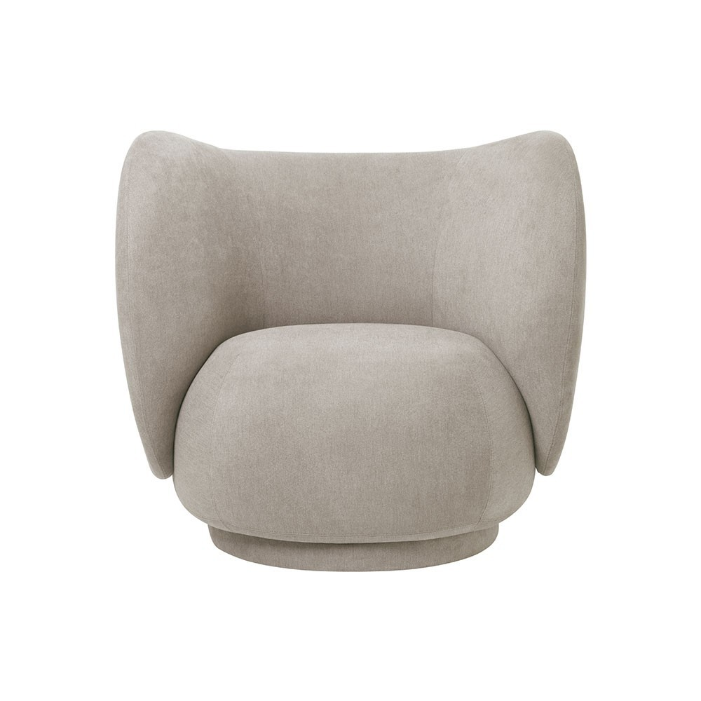 Rico fauteuil geborsteld zand Ferm Living
