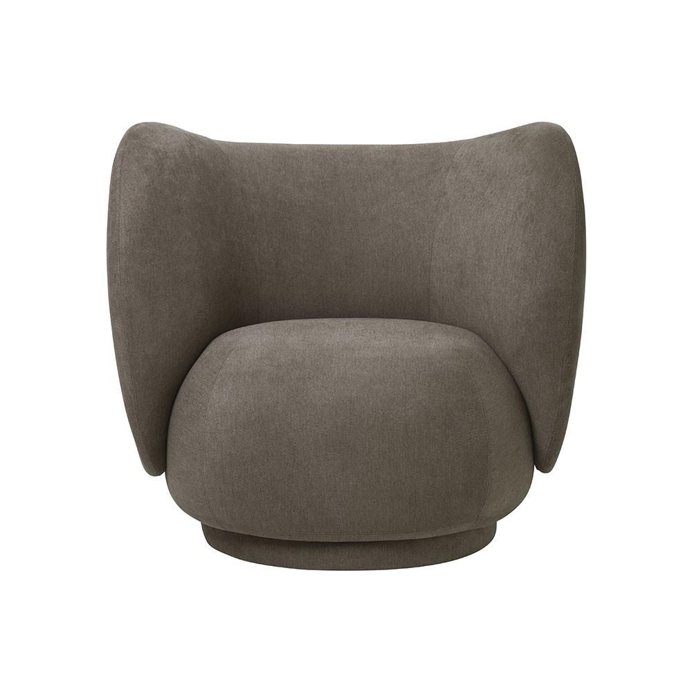 Rico fauteuil geborsteld bruin Ferm Living