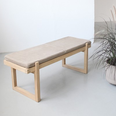 Minimal bench leather Kristina Dam Studio
