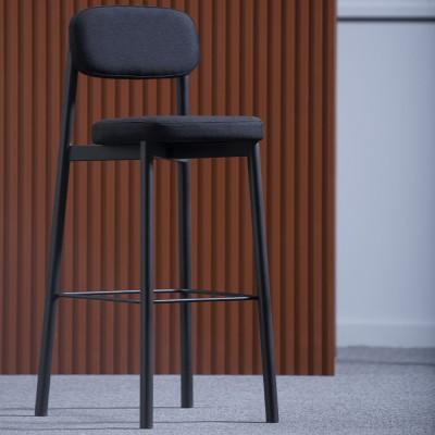 Residence bar chair 8 cm black