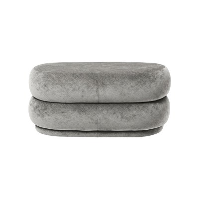 Oval pouffe grey Ferm Living