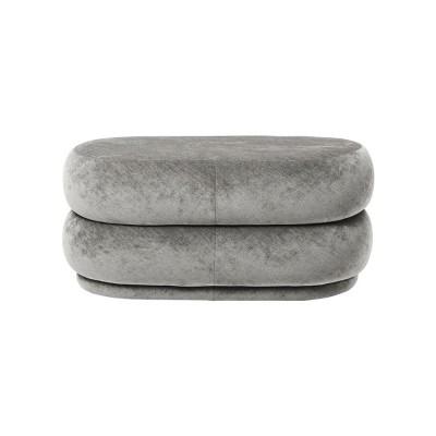 Pouf ovale grigio M