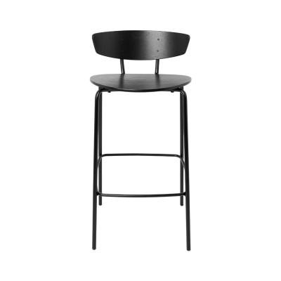 Chaise de bar Herman noir M