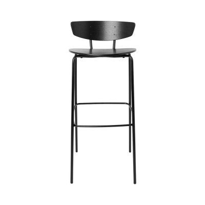Chaise de bar Herman noir L