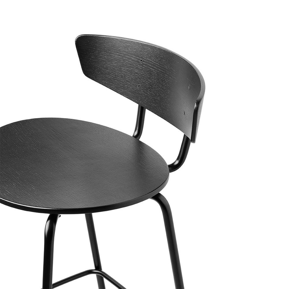 Chaise de bar Herman noir L Ferm Living