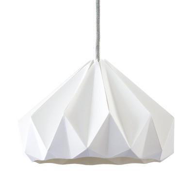 Origami hanglamp in wit kastanjepapier Snowpuppe